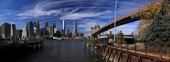 Sicht von Brooklin nach New York City