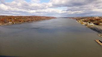 Aussicht auf den Hudson River, Poughkeepsie, New York