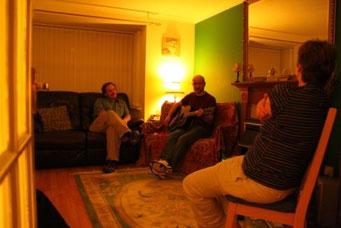 Jam session bei Sharon und Steven