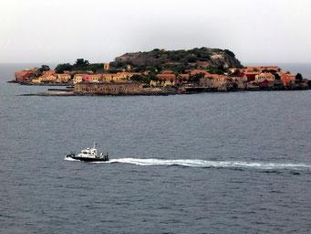 Die Festungsinsel und ehemaliger Sklaven-Umschlagsplatz vor Dakar