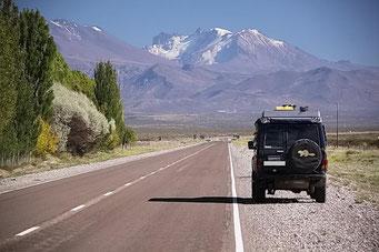 Die Fahrt geht jetzt in Richtung Anden