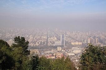 Cerro San Cristobal - Aussicht auf Santiago