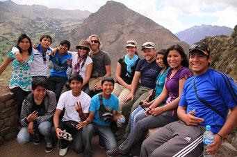 Die Inca Ruinen von Pisac - ... sondern auch wir!