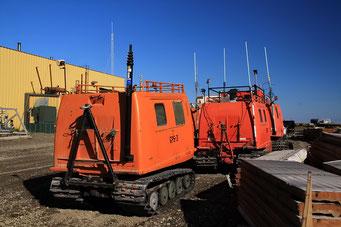 Grosse Arbeitsmaschinen, Prudhoe-Bay, Alaska