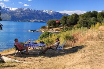Gipfeltreffen am Lago General Carrera
