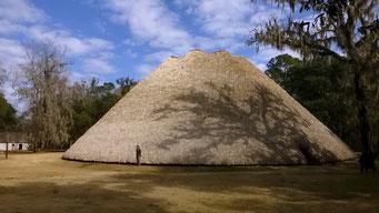Versammlungshaus der Appalachicola-Indianer, Mission San Louis, Tallahassee, FL, USA