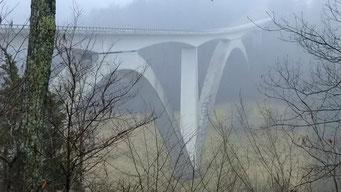 Doble Arch Bridge am Natzches Trace, TN