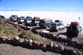 Isla de Huari - nach unserer Ankunft kommen alle Touren-Jeeps