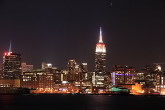 New York City by Night, Sicht von Hoboken