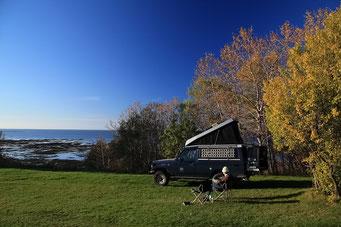 Campieren am St. Lorenz Strom, Gaspesie Halbinsel, Québec