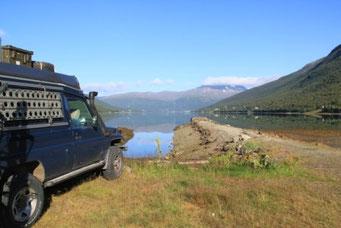 Camping bei Tromsø