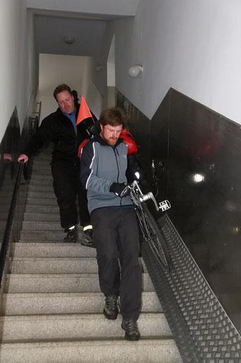 90 Treppen runter