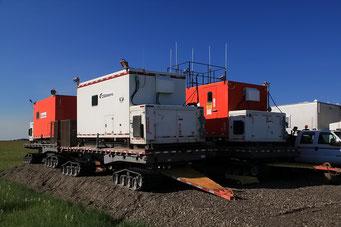 So werden die Container verschoben, Prudhoe-Bay, Alaska