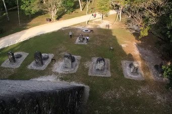 Aussicht von Mond-Piramide, Tikal