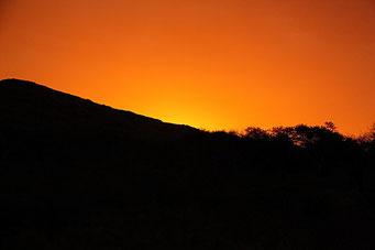... vor allem der Sonnenuntergang danach