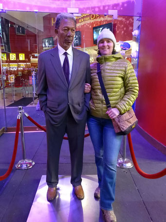 Treffen mit Morgan Freeman, New York City