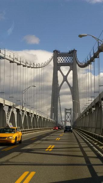 Autobrücke über den Hudson River, New York