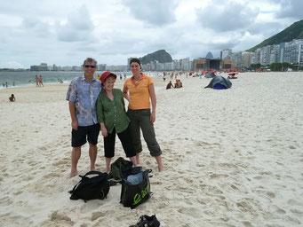 Zuguter letzt noch ein Bad an der Copacabana...