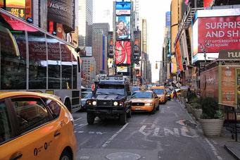 Auch unser Landcruiser hat es nach New York City geschafft  ;-)