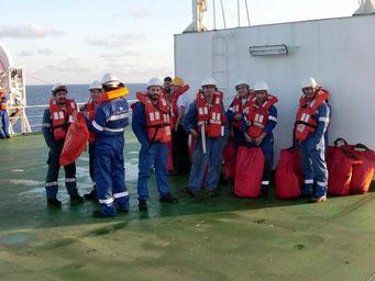 Passengers first, dann die Crew      ©Marion&Alfred