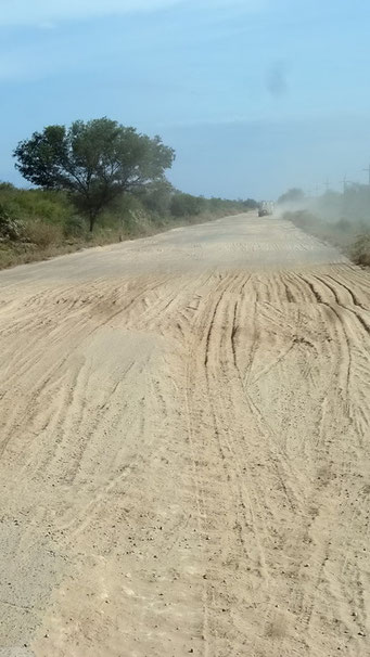 ... dann stört der Asphalt im Sand...
