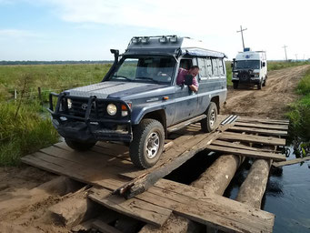 ... dann Testfahrt mit dem leichteren Fahrzeug..