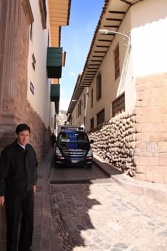 Cuzco - sehr enge Strassen...