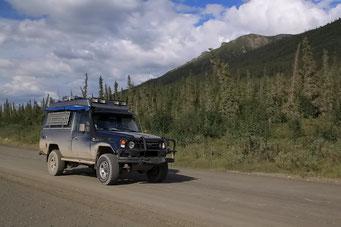 Rückfahrt auf dem Dalton Highway, Alaska