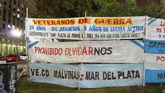 Proteste der Falkland-Krieg-Veteranen