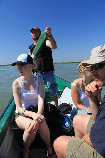Bootsfahrt im Delta