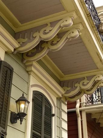 New Orleans - Alte Holzhäuser im French Quarter