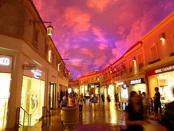 Künstliche Shopping-Welt im Cesar's Palace