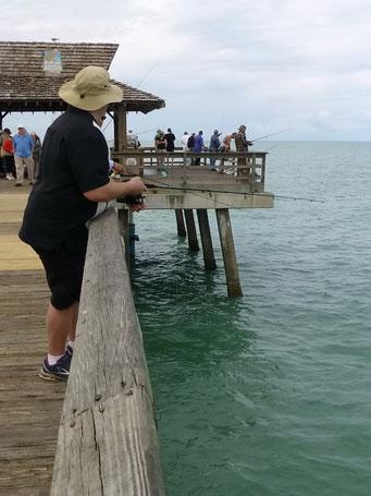 Fischen ist hier allgegenwärtig, Naples, FL, USA