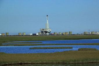 Öl-Bohrturm, Prudhoe-Bay, Alaska
