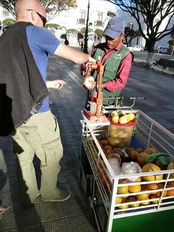 Fruchtsäfte kommen hier auch in den Park