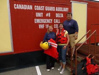 Ausgerüstet für's Rettungsboot