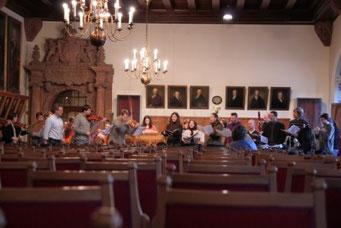 Probenbesuch beim Gewandhaus Orchester - Steffi spielt