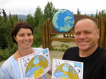 Zertifizierung am Polarkreis, Dalton Highway, Alaska