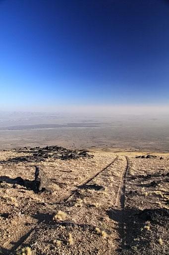 El Payen R.P. - Ausblick von 3000 MüM (die Spur hoch war seeehr steil)