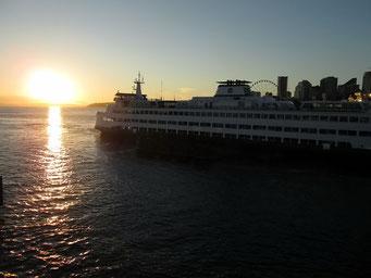 Abendstimmung am Hafen von Seattle