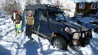Unser Auto ist auch schneetauglich...