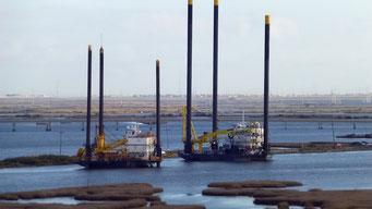 Mississippi Mündung - es wird gebaut wie verrückt