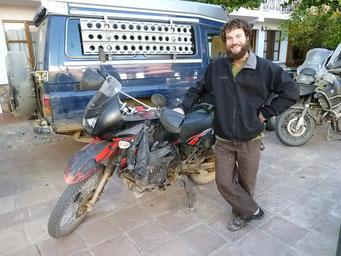Chris und seine Yamaha