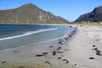 Sandstrände wie in der Karibik - die Temperaturen jedoch arktisch