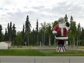Hier ist der Santa Claus das ganze Jahr, North Pole, Alaska