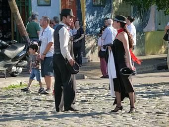 Show-Tango-Tänzer in La Bocca