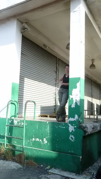 Warten auf den Container