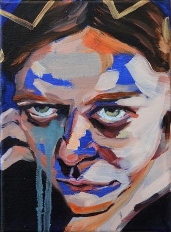 urban angel (10), 2017, acrylic + oil on canvas, 18 x 24 cm