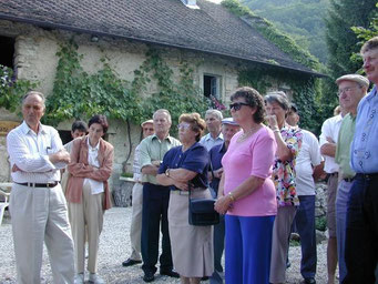 Les visiteurs de la Société d'Apiculture du Nord Vaudois