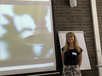 Anja Jacobi (Ev. Kirchengemeinde Neunkirchen) beim II. Hessischen Engagementkongress 2021 an der Ev. Hochschule Darmstadt. | © Foto: S. Schlitt, EKKW